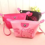 [ HELLO KITTY ] TAS KOSMETIK HELLO KITTY BORDIR PLUS TALI TERMURAH
