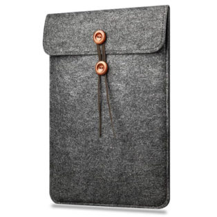 15 inch Felt Button Style Sleeve Case Laptop Ultrabook 15 Inch