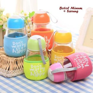 Botol Minum + Sarung DONT WORRY BE HAPPY